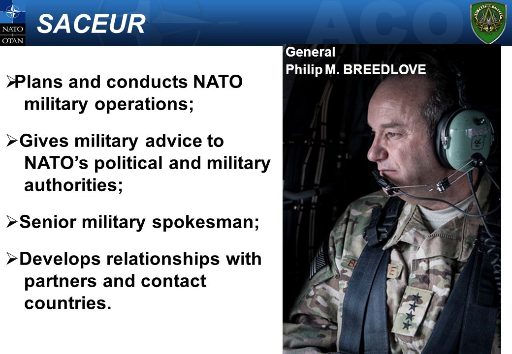SACEUR Plans and conducts NATO military operations;