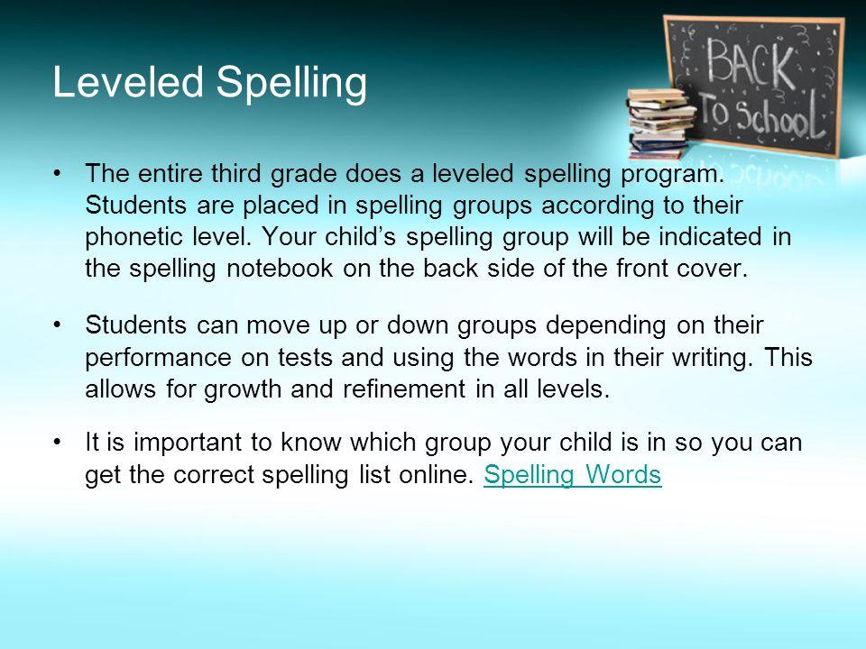 Leveled Spelling