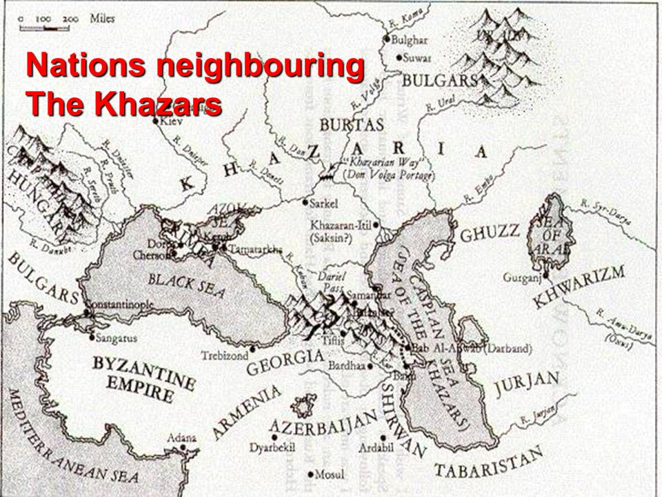 Nations neighbouring The Khazars