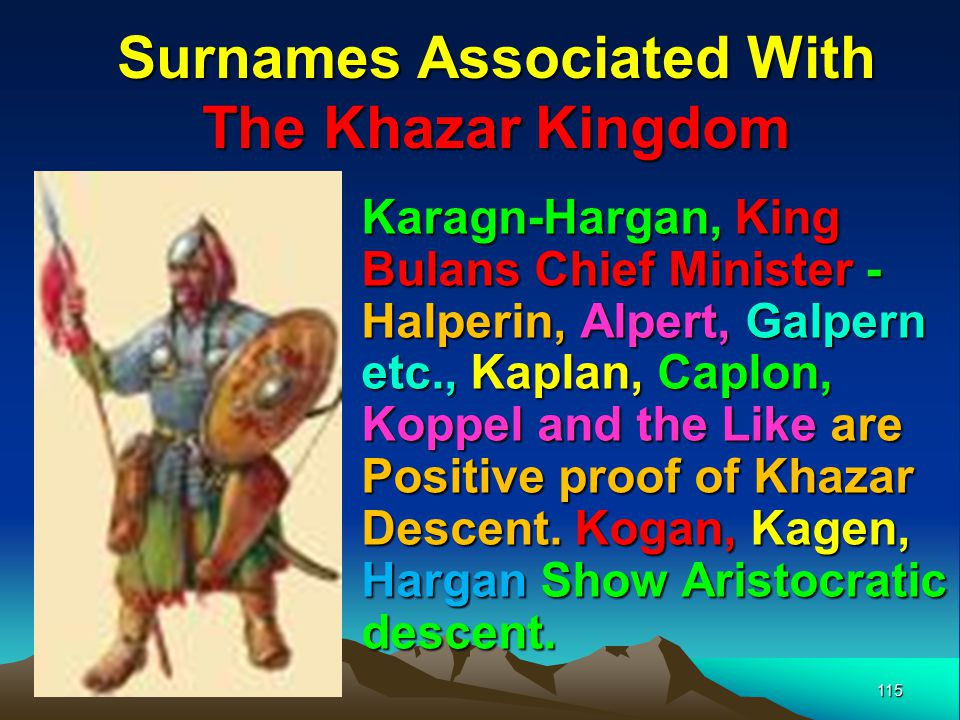 Surnames Associated With The Khazar Kingdom
