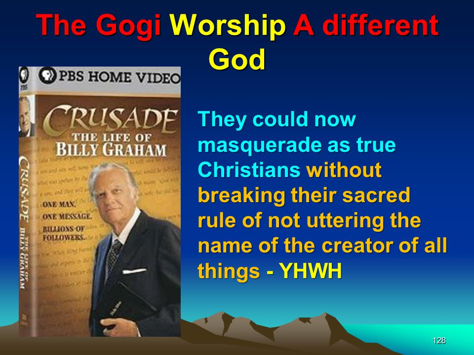 The Gogi Worship A different God
