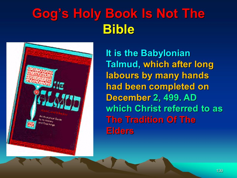 Gog's Holy Book Is Not The Bible