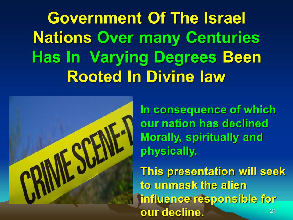 Government Of The Israel Nations Over many Centuries Has In Varying Degrees Been Rooted In Divine law