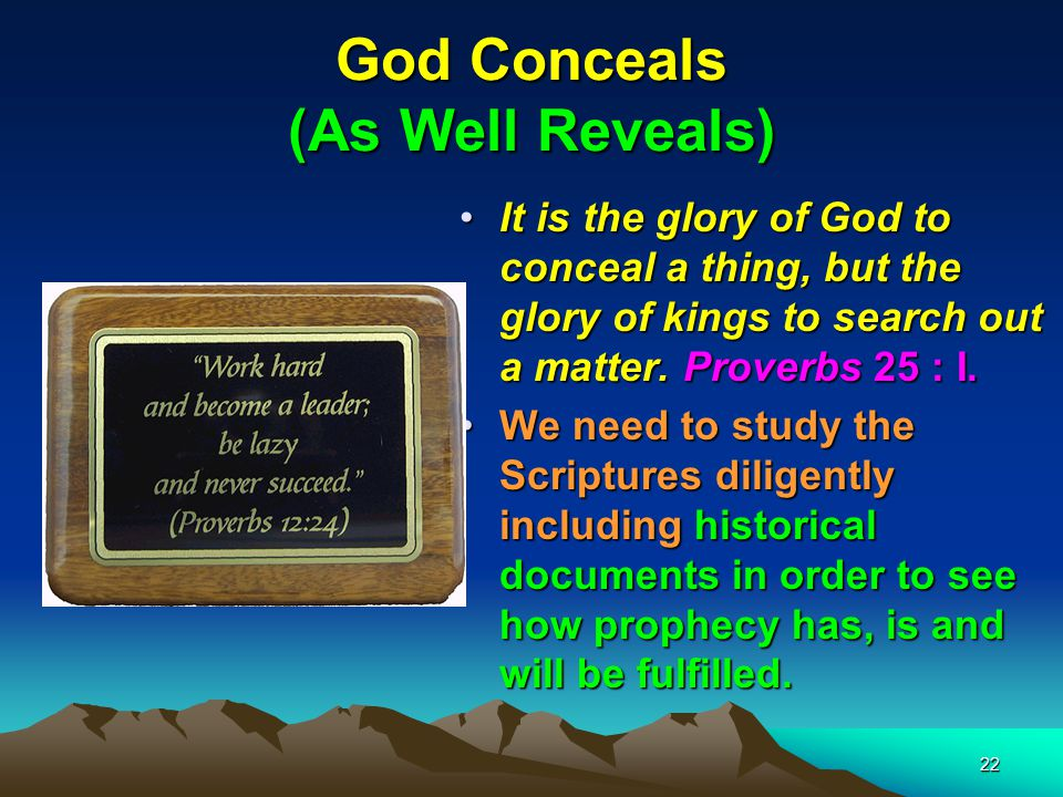 God Conceals (As Well Reveals)
