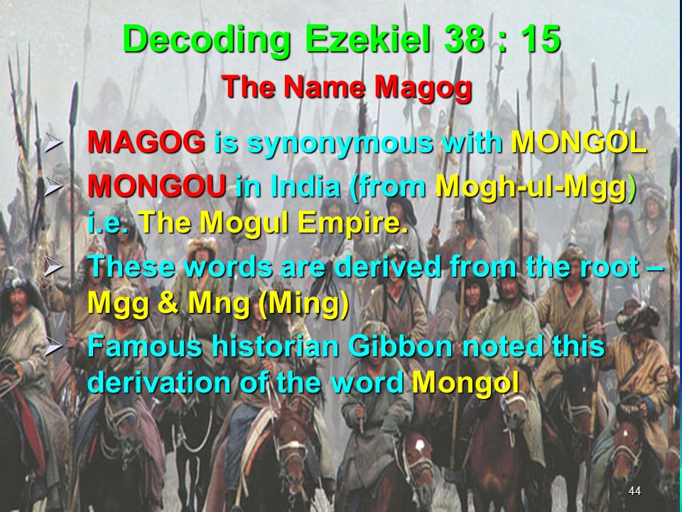 Decoding Ezekiel 38 : 15 The Name Magog
