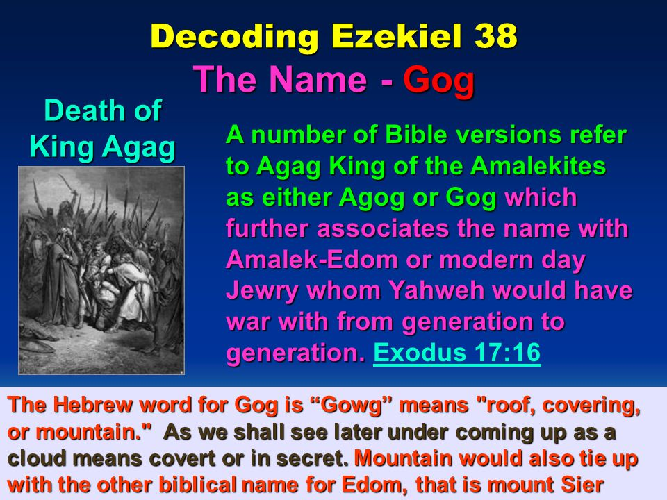 Decoding Ezekiel 38 The Name - Gog