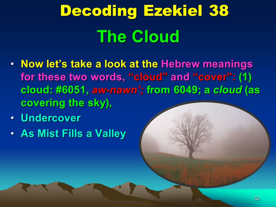 The Cloud Decoding Ezekiel 38