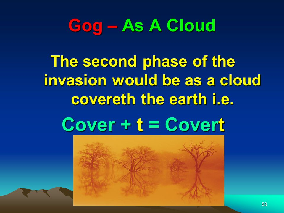 Cover + t = Covert Gog – As A Cloud