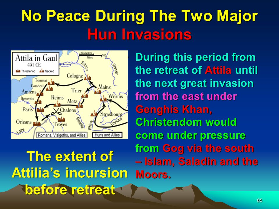 No Peace During The Two Major Hun Invasions