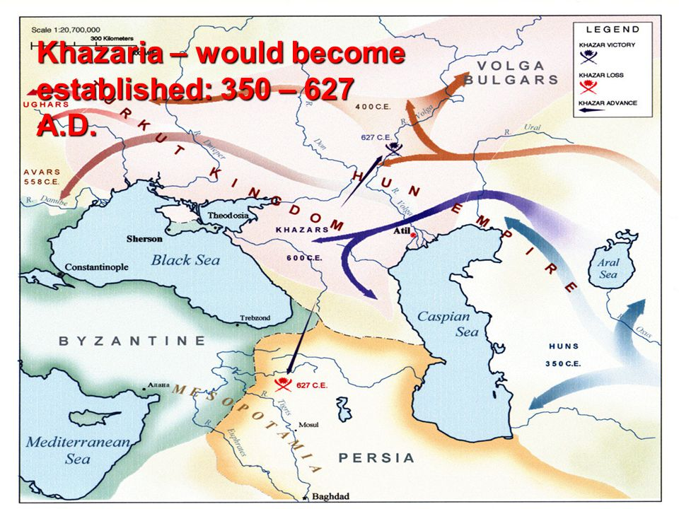 Khazaria – would become established: 350 – 627 A.D.
