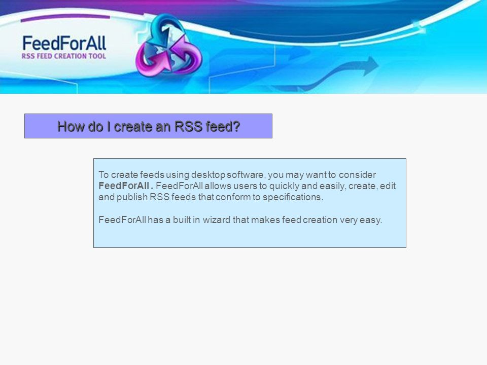 How do I create an RSS feed