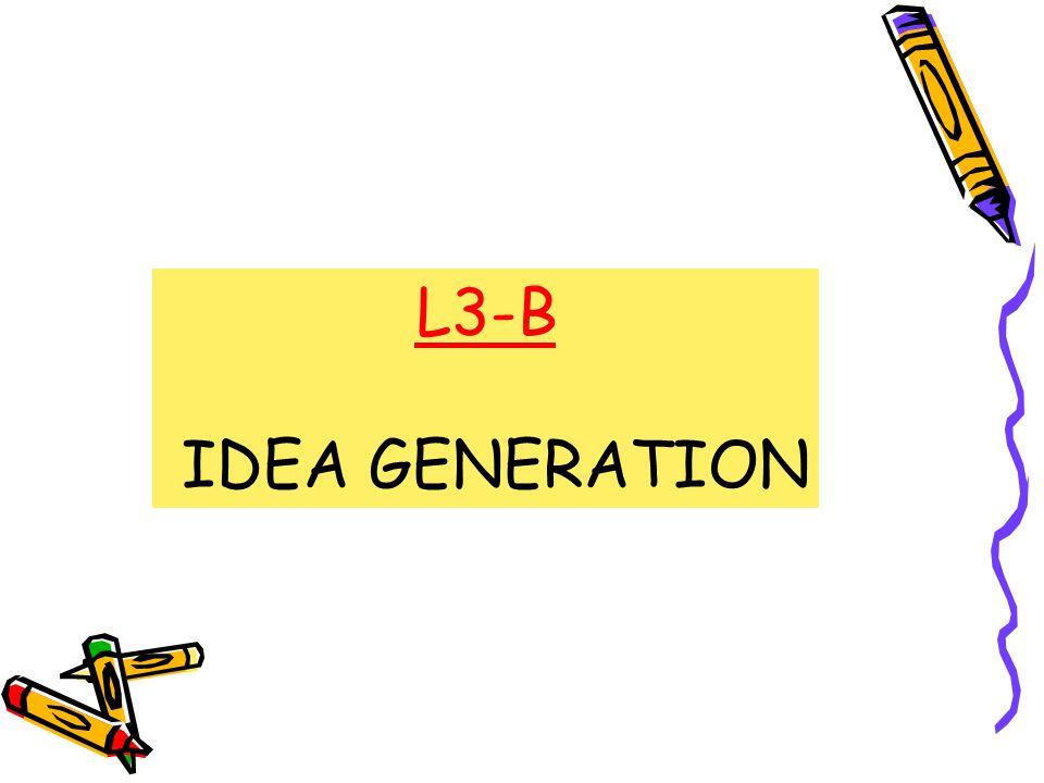 L3-B IDEA GENERATION