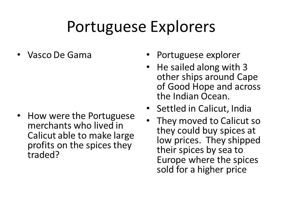 Portuguese Explorers Vasco De Gama