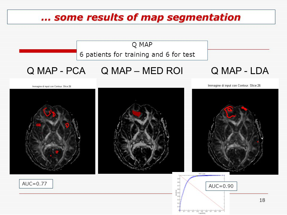 … some results of map segmentation