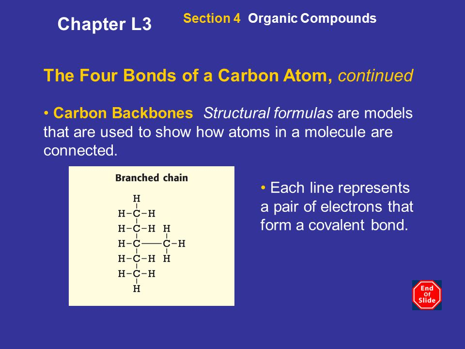 Chapter L3 The Four Bonds of a Carbon Atom, continued