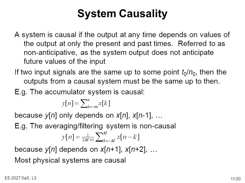 System Causality