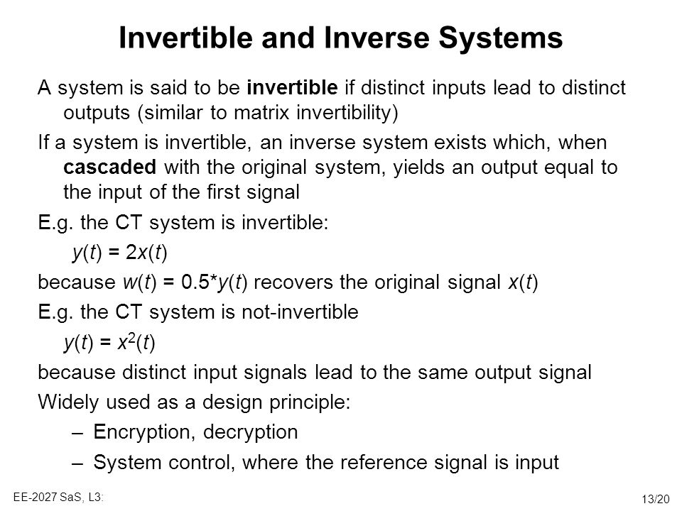 Invertible and Inverse Systems