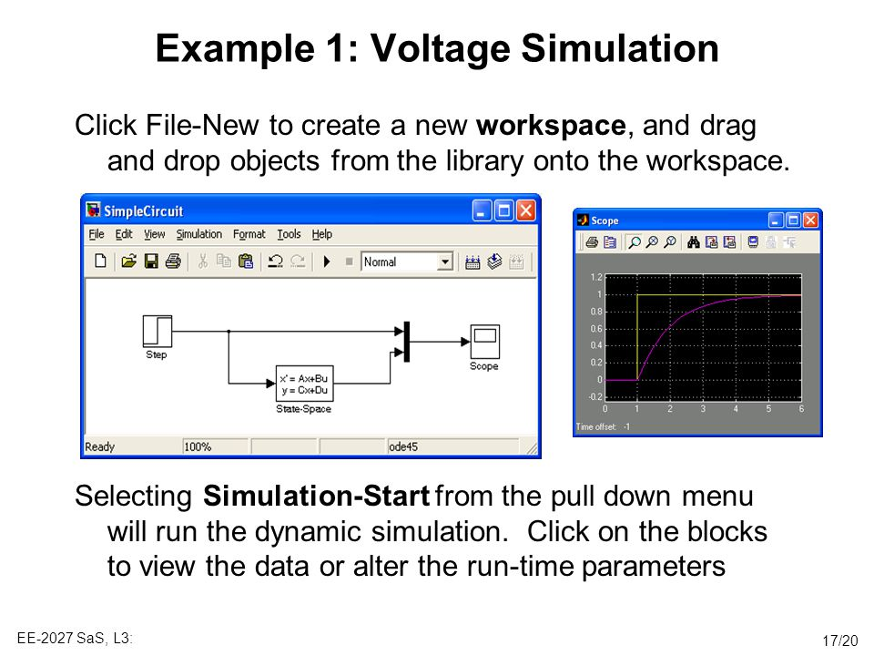 Example 1: Voltage Simulation