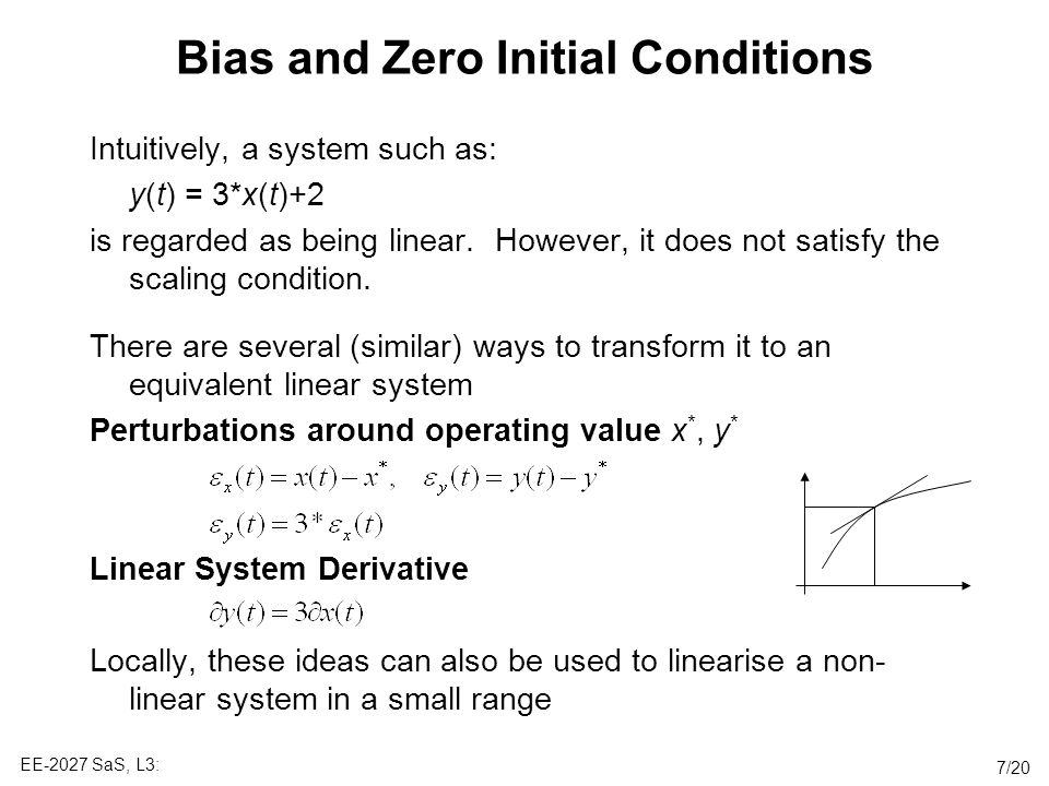 Bias and Zero Initial Conditions