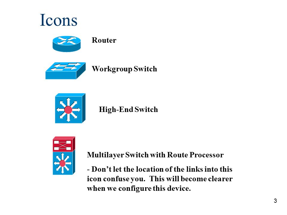 Icons Router Workgroup Switch High-End Switch