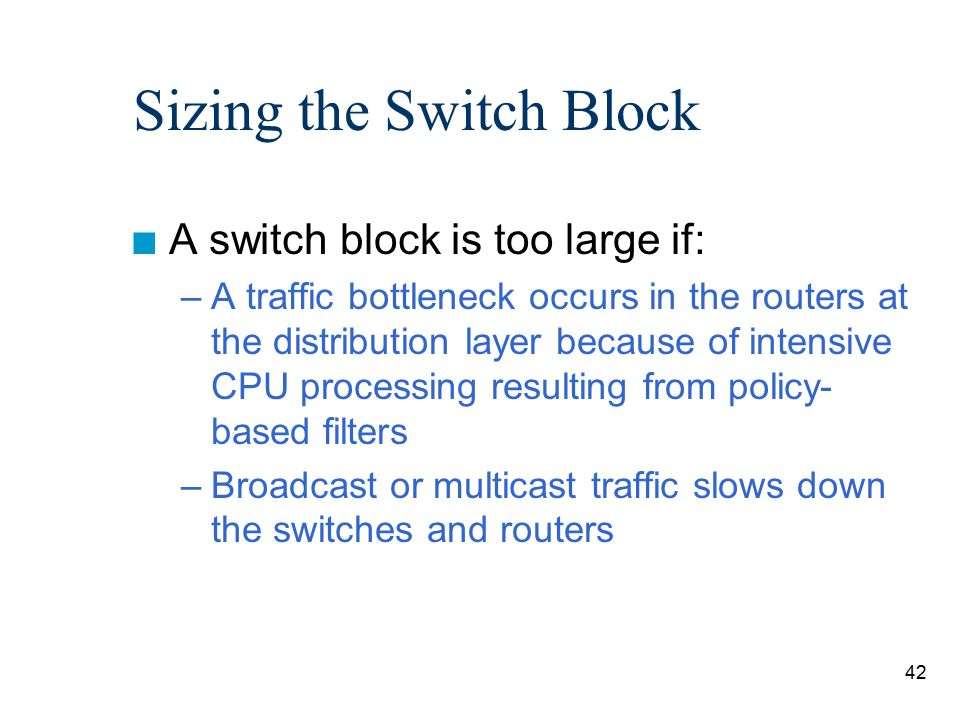 Sizing the Switch Block