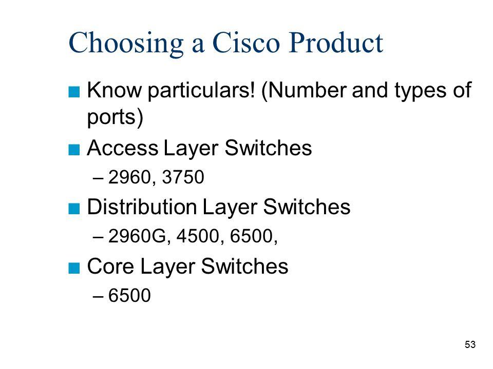 Choosing a Cisco Product