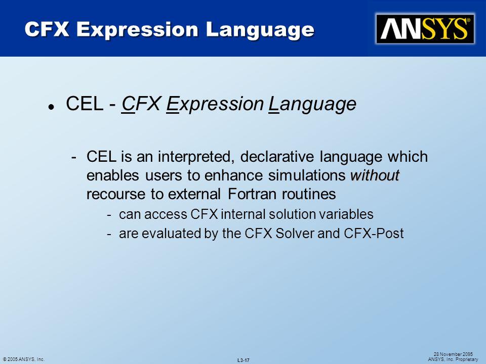 CFX Expression Language