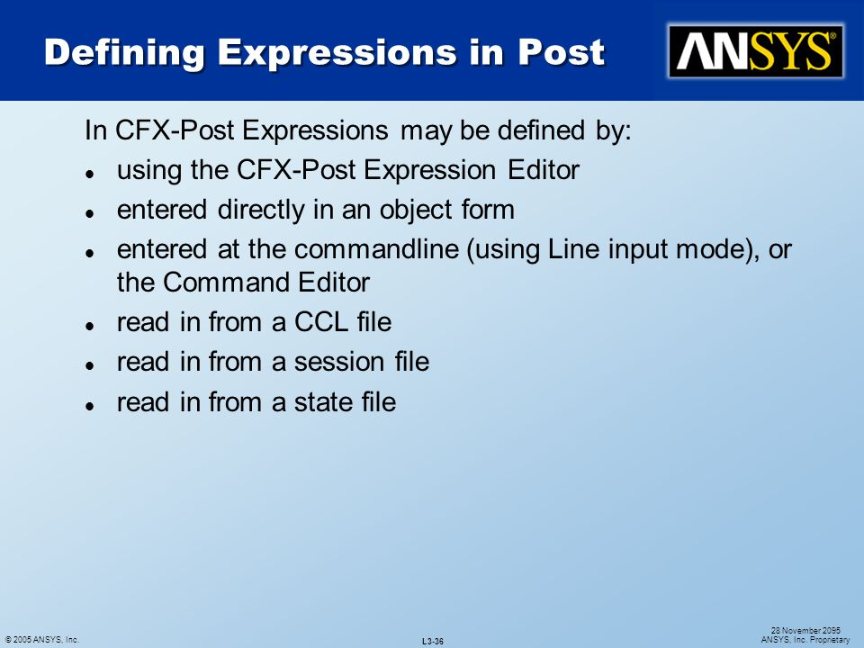 Defining Expressions in Post