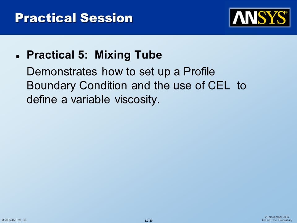 Practical Session Practical 5: Mixing Tube