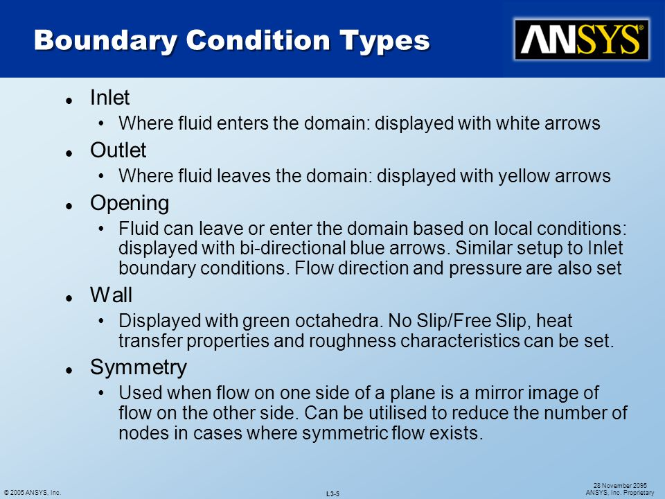 Boundary Condition Types