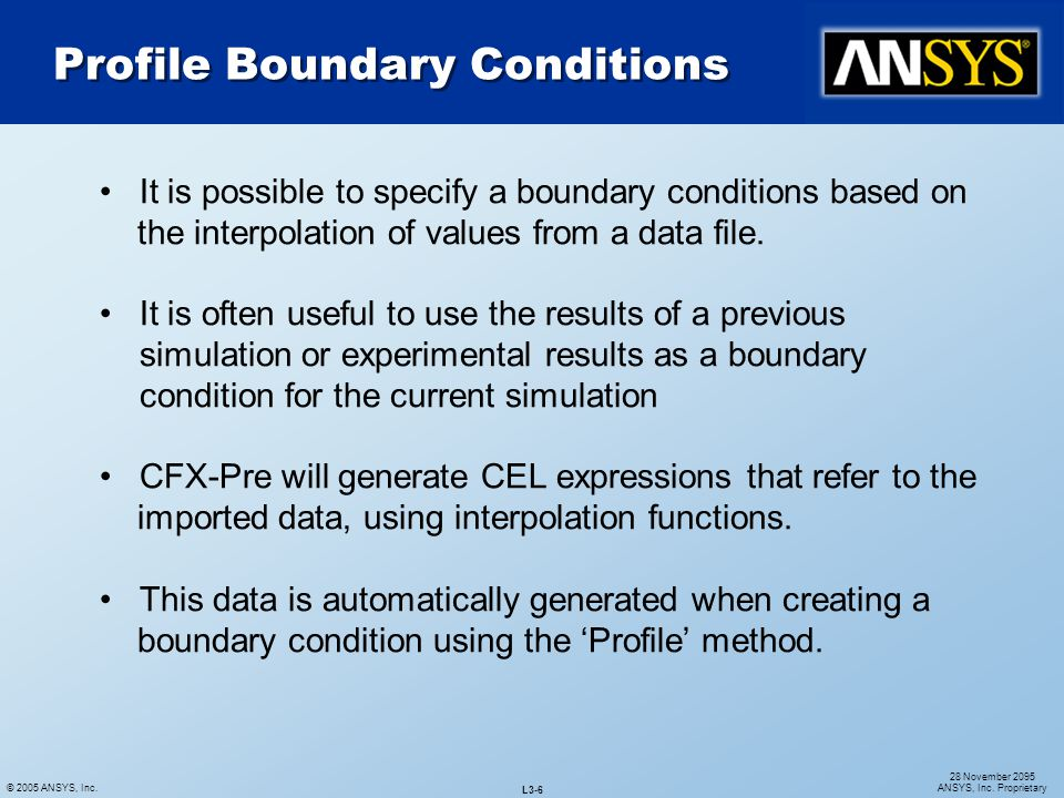 Profile Boundary Conditions