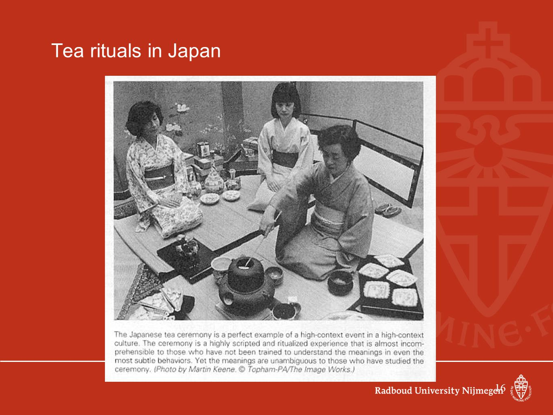 Tea rituals in Japan 16 16