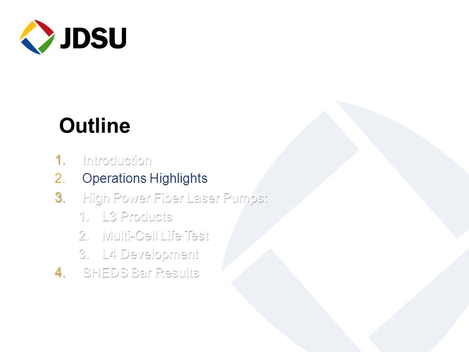 Outline Introduction Operations Highlights