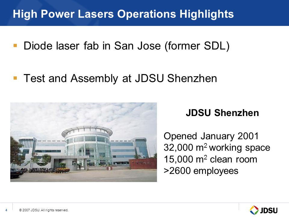 High Power Lasers Operations Highlights