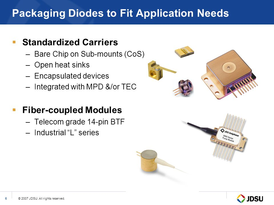 Packaging Diodes to Fit Application Needs