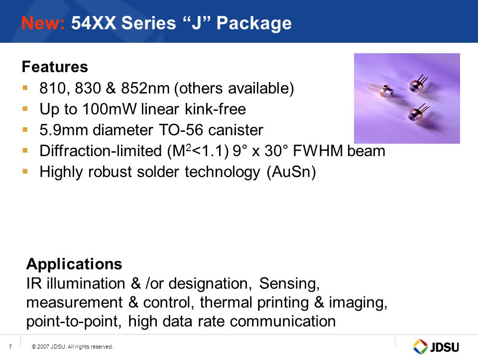 New: 54XX Series J Package