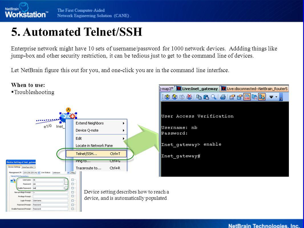 5. Automated Telnet/SSH