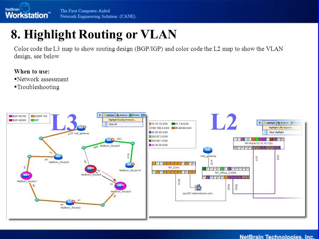 L3 L2 8. Highlight Routing or VLAN