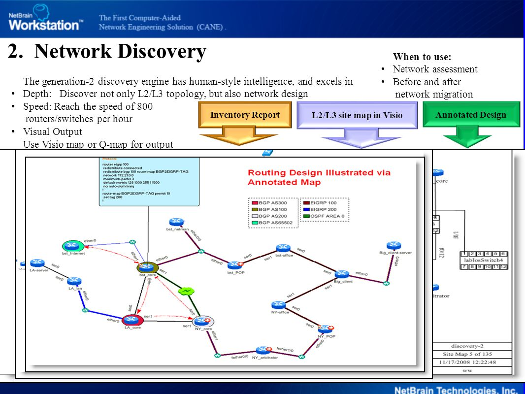 Device Infomation 2. Network Discovery When to use: Network assessment