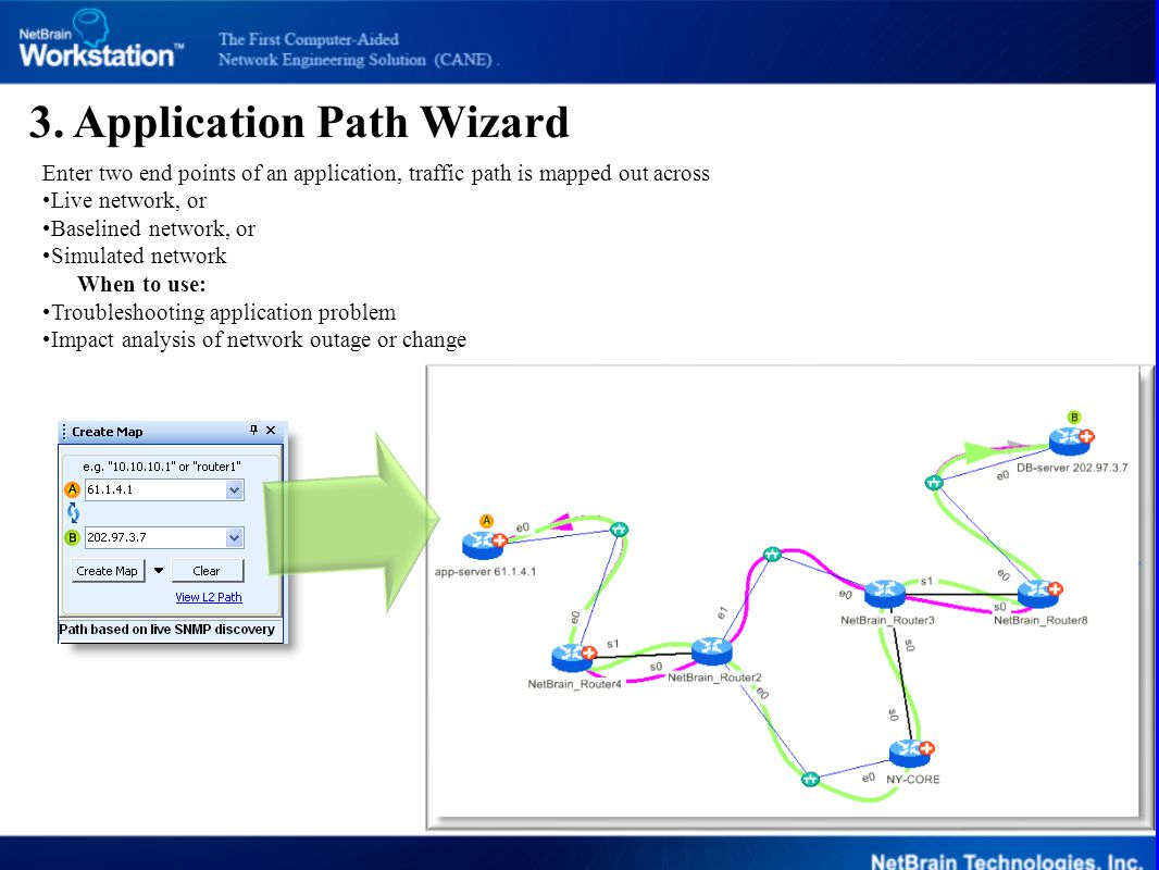 3. Application Path Wizard