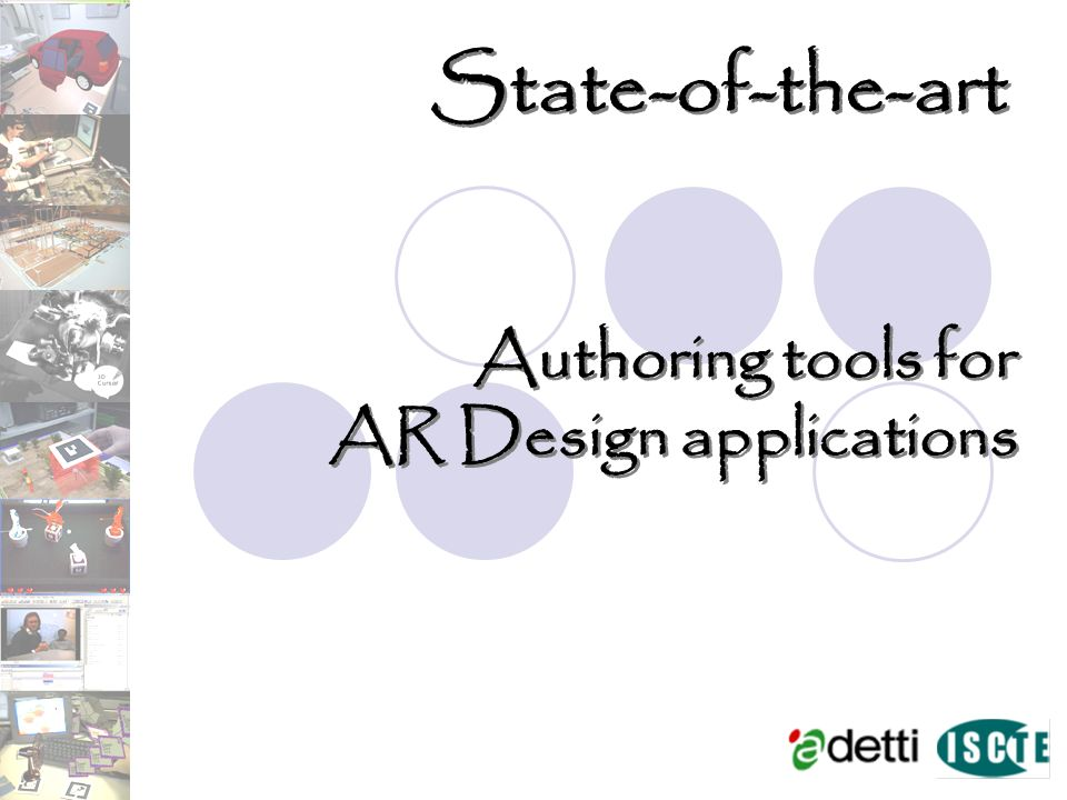State-of-the-art Authoring tools for AR Design applications