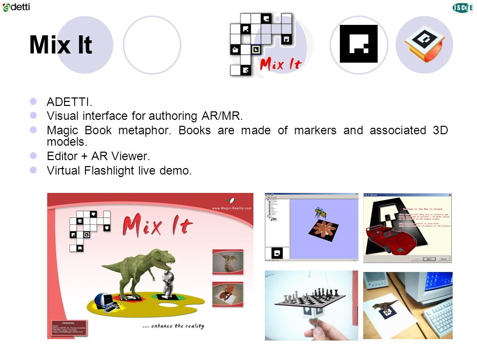 Mix It ADETTI. Visual interface for authoring AR/MR.