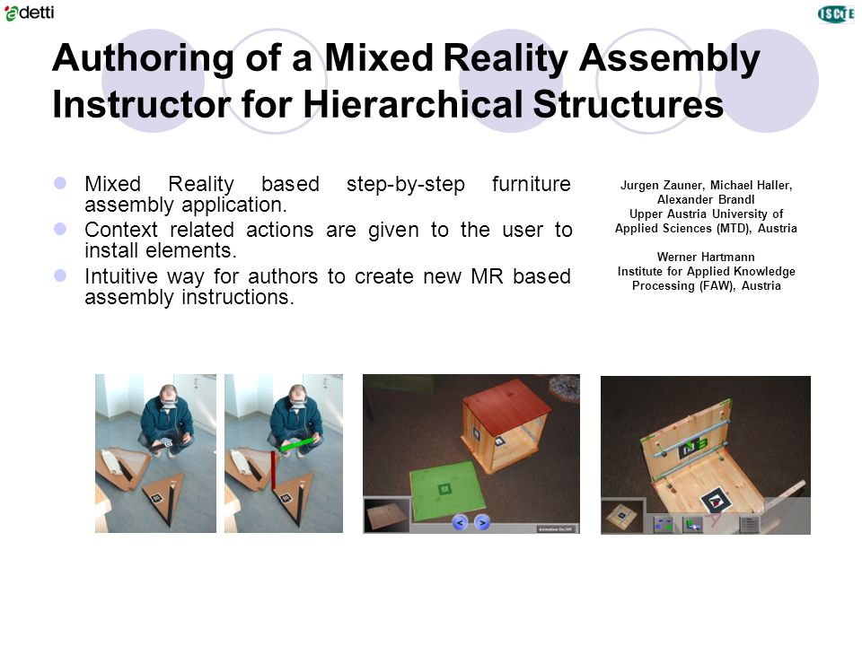 Authoring of a Mixed Reality Assembly Instructor for Hierarchical Structures