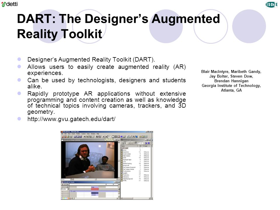 DART: The Designer's Augmented Reality Toolkit