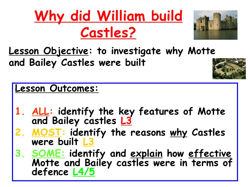 Why did William build Castles