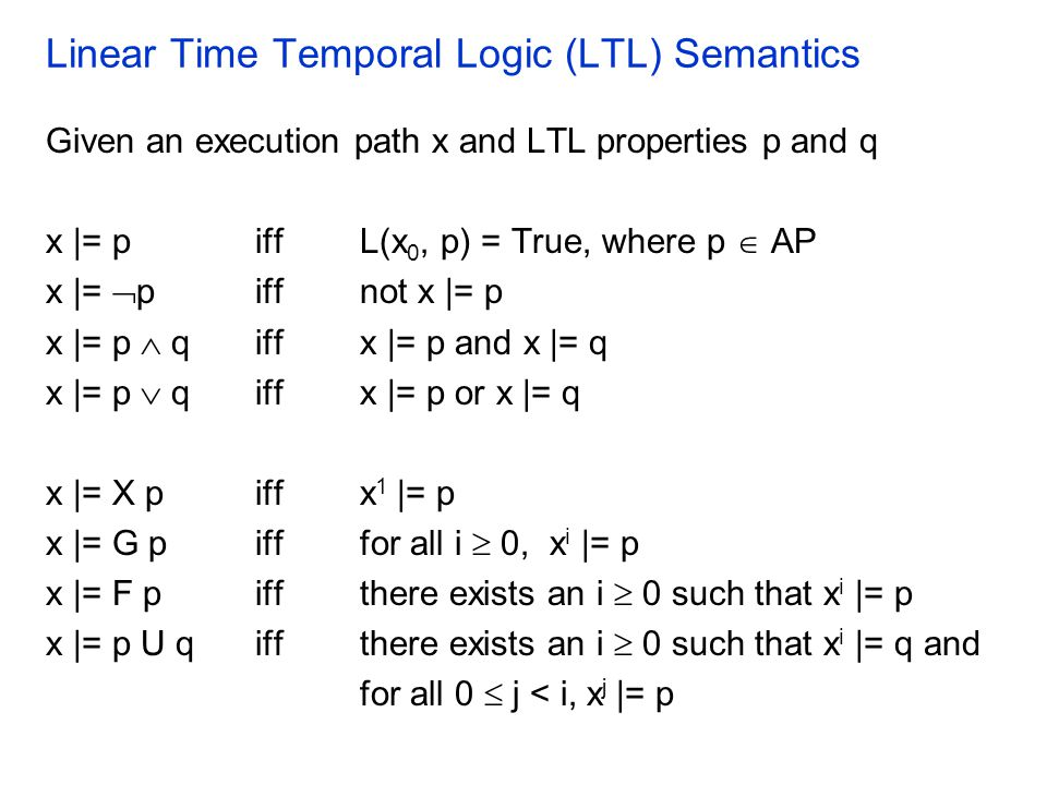 Linear Time Temporal Logic (LTL) Semantics