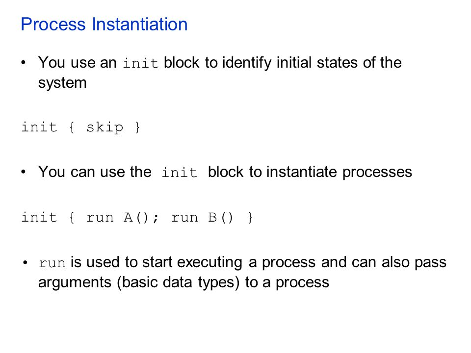 Process Instantiation