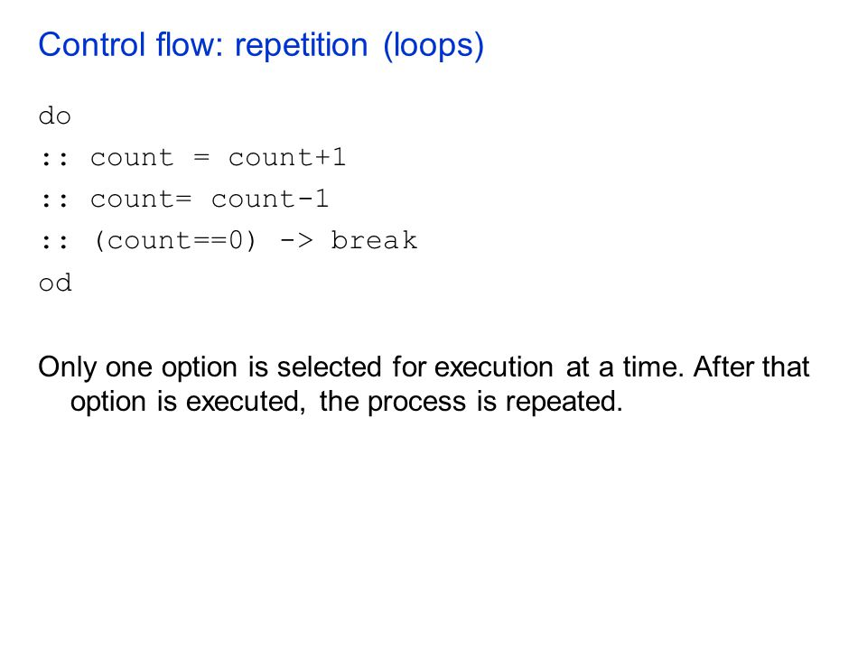 Control flow: repetition (loops)