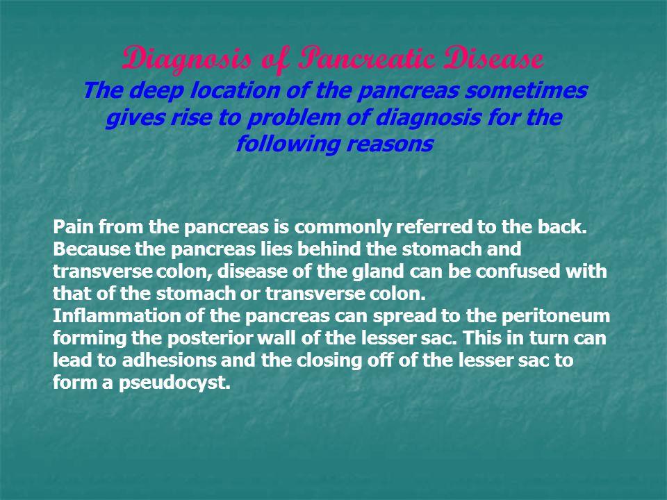 Diagnosis of Pancreatic Disease