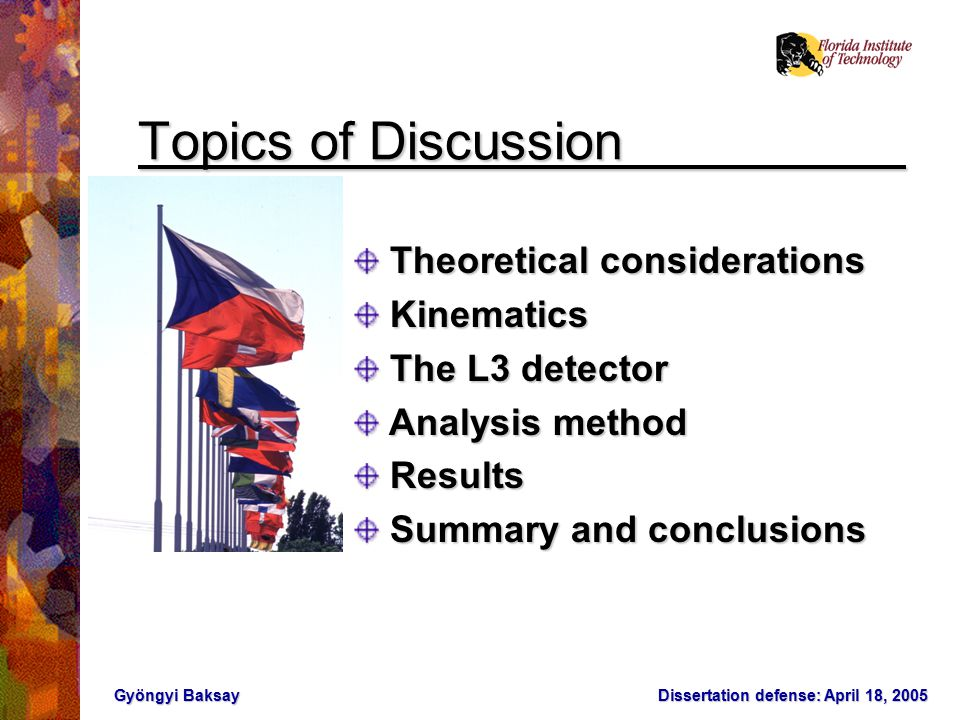 Dissertation Defense, 05/18/2005